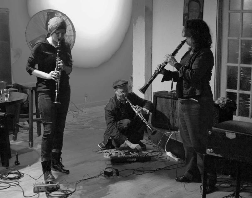 amplified clarinet trio_photo by chris davis