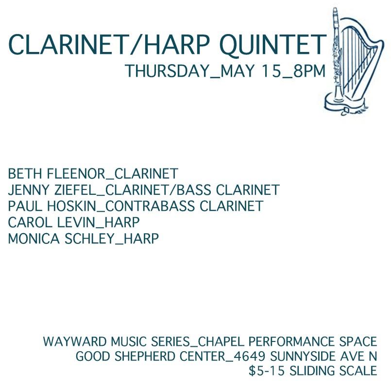 clarinet harp quintet