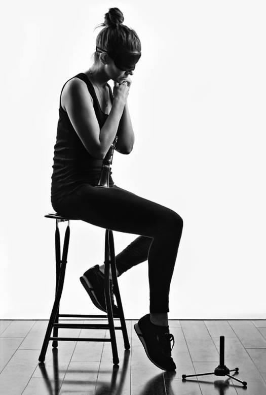Beth Fleenor blindfolded_photo by Steve Korn